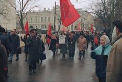 Pro komunisty wiec obraz stock