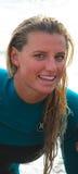 Pro-kvinnlig surfare, Lakey Peterson Leadbetter Classic Arkivbild