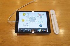 Pro lancement de nouvel iPad Image libre de droits