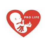 Pro life. A child whit heart, logo Stock Photography