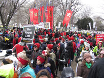 Pro Life Rally Stock Photo