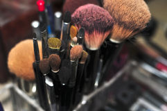 Pro Makeup Tools. Professional Makeup Tools as part of a beauty routine Royalty Free Stock Image