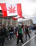 Pro marijuana parade in Toronto Royalty Free Stock Photo