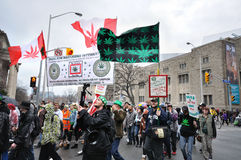 Pro marijuana parade in Toronto Stock Image