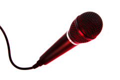 Pro Microphone Red Lights Stock Images