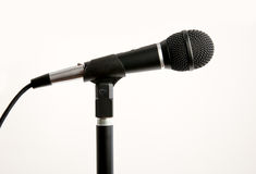 Pro Microphone on Stand Royalty Free Stock Photos