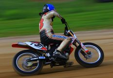 Pro motorcycle driver Stock Photography