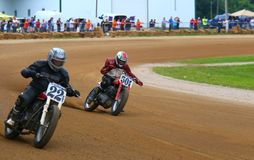 Pro motorcycle racing Stock Image