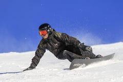 Pro nivelado, técnica e equilíbrio do Snowboarder Imagem de Stock