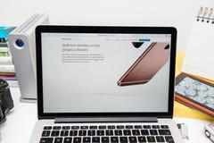 Pro-ny iPad för Apple-datorer, iPhone 6s, 6s plus och Apple TV Royaltyfri Fotografi