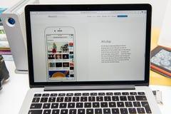 Pro-ny iPad för Apple-datorer, iPhone 6s, 6s plus och Apple TV Fotografering för Bildbyråer