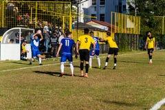 Pro partita di lega di football americano locale dei semi Fotografia Stock Libera da Diritti