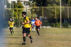 Pro partita di lega di football americano locale dei semi Fotografie Stock