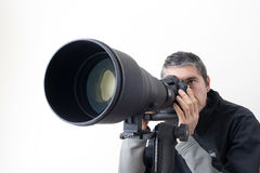 Pro- photographer Stock Photo