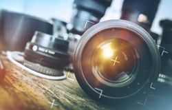 Pro Photography Equipment Royalty Free Stock Photography