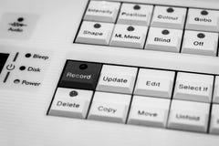 Pro progettisti di accensione che programmano console, scrittorio immagine stock