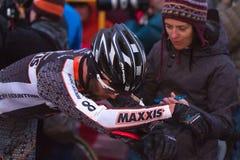 pro racer för cyclocrossjeff kabush Arkivfoton