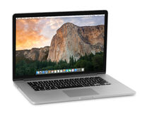 Pro retina de Macbook imagem de stock royalty free