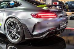 PRO roadster de Mercedes-AMG GT R V8 Bi-turbo avec M178 le moteur, voiture de sport performante produite par Mercedes Benz image stock