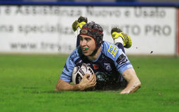 Pro 12 rugby di Guinnes - Benetton contro Cardiff Fotografia Stock
