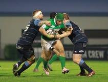Pro-12 Rugby Guinnes - Benetton gegen Cardiff Stockbilder