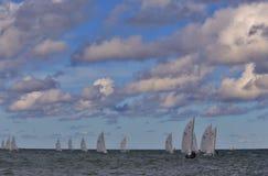 Pro-segling på det öppna vattnet Fotografering för Bildbyråer