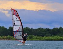Pro Solo rider Windsurfing Stock Images