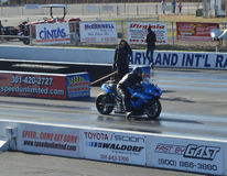 Pro Stock Motorcycle Royalty Free Stock Photography