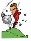 Pro super-star de golf illustration stock