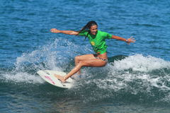 Pro surfer Amy Murphree Stock Photos