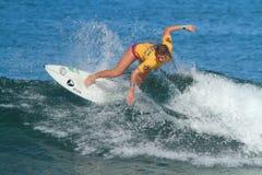 Pro surfer Amy Nichols Stock Foto