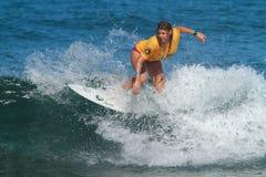 Pro surfer Amy Nichols Royalty Free Stock Photography