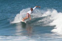 Pro surfer Brian Toth. At Corona Extra Pro Surf at Domes Beach, Rincon, Puerto Rico Royalty Free Stock Image