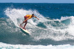 Pro surfer Connie Arias. In recent event in Middles Beach 2008 in Puerto Rico Stock Photo