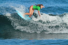 Pro surfer Emily Rupper Stock Images