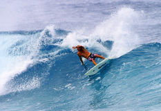 Pro Surfer Flynn Novak Surfing in Hawaii Royalty Free Stock Image