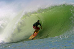 Pro Surfer Liam Mcnamara Surfing in Hawaii Royalty Free Stock Photos