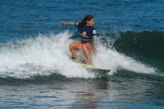 Pro surfer Maria Kuzmonich Images stock