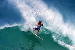 Pro surfer Ross Williams surfant en Hawaï Photo stock