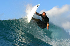 Pro Surfer Ross Williams Surfing in Hawaï Stock Foto
