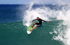 Pro Surfer Shane Beschen Surfing Royalty Free Stock Photography