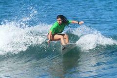 Pro surfer Simone Zea stock photo