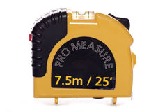 Pro tape measure with spirit level Royalty Free Stock Photo