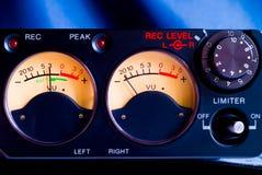 Pro tape recorder closeup Stock Image