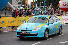 Pro Team Astana. KATOWICE, POLAND - AUGUST 2: Team vehicle on the route of Tour de Pologne bicycle race on August 2, 2011 in Katowice, Poland. TdP is part of Stock Images