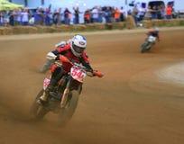 Pro track motorcycle race Stock Photo