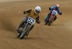 Pro track motorcycle race royalty free stock image