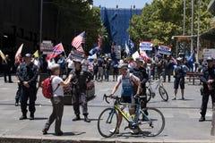 Pro Trump supporters, Sydney - Australia Royalty Free Stock Photography