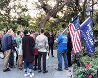 Pro-Trump, Trump Supporters, Washington Square Park, NYC, NY, USA Royalty Free Stock Photography
