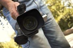 Pro videocamera portatile 3CCD Fotografia Stock